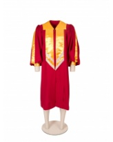 Deluxe choir robe with satin highlights.