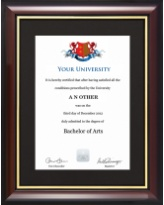 Degree/Certificate Display Frame - Traditional Style
