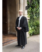 Barrister's Gown, Wig & Band Set