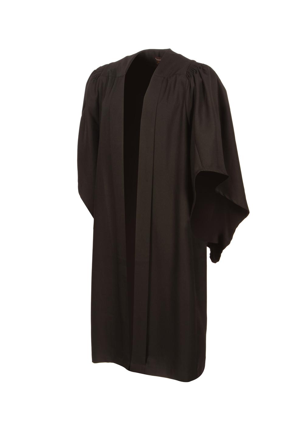Fluted graduation gown (UK Bachelor)