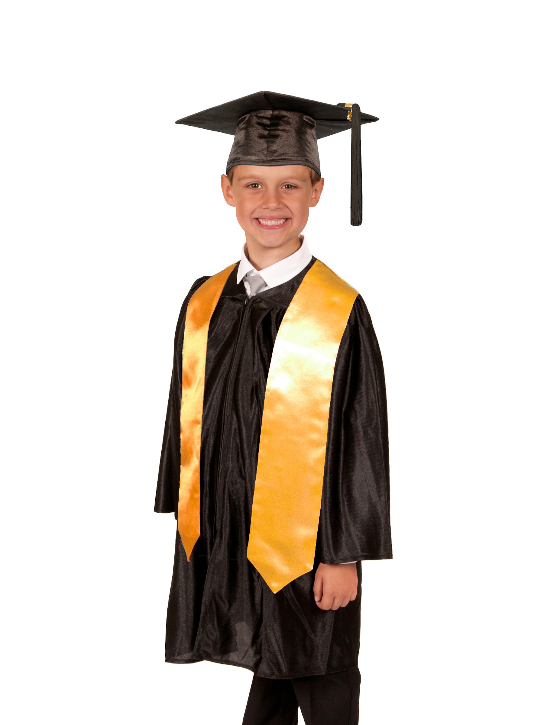 Shiny Graduation Gown Cap and Stole for your Primary Graduation